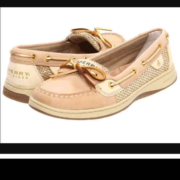 Sperry Shoes   Gold Sperrys   Poshmark